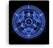 Human Transmutation Circle Canvas Print