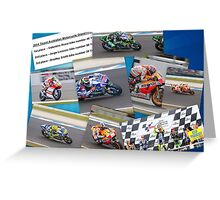 Australian MotoGP 2014 winners collection Rossi Lorenzo Smith Marq Marquez Greeting Card