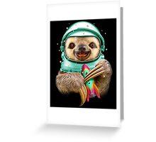 SPACESLOTH Greeting Card