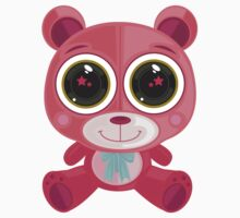 Teddy Bear - Star Eye Pink Kids Clothes