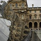 Paris - Louvre Reflecting in the Pyramid  by Georgia Mizuleva