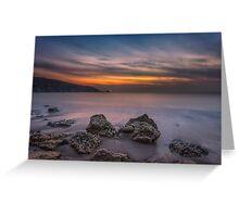 Alum Bay Sunset #2 Greeting Card