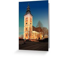 The village church of Sankt Peter am Wimberg III   architectural photography Greeting Card