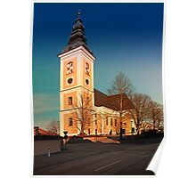 The village church of Sankt Peter am Wimberg III | architectural photography Poster