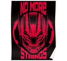 No More Strings (Pink) Poster