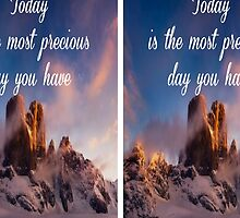Today is the most precious day you have by independentlyme