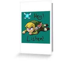 Link & Navi - The Legend Of Zelda Greeting Card