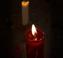A Candle Loses No Light By Sharing Its Flame II by Al Bourassa