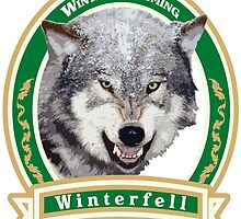 Game of Thrones: Winterfell Beer T-Shirt by PopHatesFags