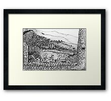 Italy-The view from the Citadel of Assisi Framed Print