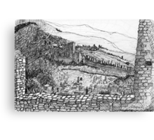 Italy-The view from the Citadel of Assisi Canvas Print