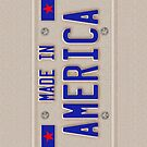 Made In America Car Licence Plate iPhone Case, Samsung Galaxy Cases, Throw Pillow, Tote Bag, Duvet Cover, iPad Cases by CroDesign