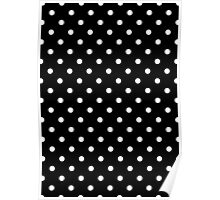 Polkadots Black and White Poster