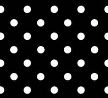 Polkadots Black and White Sticker