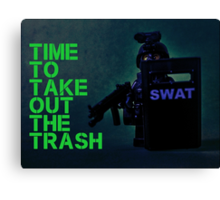 Time to take out the trash, by Tim Constable Canvas Print