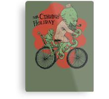 Mr. Cthulhu's Holiday Metal Print