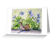 Harold in the Violets Greeting Card