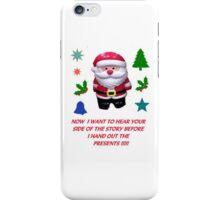 A SANTA CLAUS GREETING CARD  iPhone Case/Skin