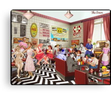The Diner Canvas Print