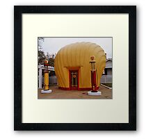 "Old Timey ""Shell Shaped"" Shell Station Framed Print"