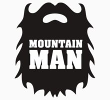 Cool Mountain Man Beard Silhouette T-Shirt and Accessories by Albany Retro