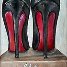 Christian Louboutin Red Bottom Heels Backside by Arts4U