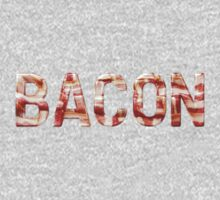 Bacon - Glass Lettering - Woven Strips Photograph Kids Clothes