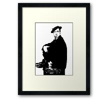 Buster Keaton Sits On The Can Framed Print