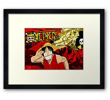 Luffy Borderlands Framed Print