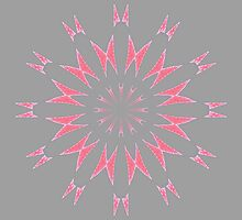 Abstract Pink Flower by Lena127