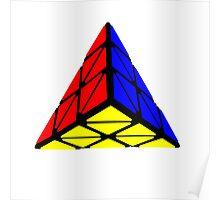 Pyraminx cude painting Poster
