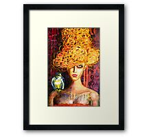 Lady Hawk Framed Print