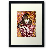 Raven Girl Wins - STOLEN!! Framed Print