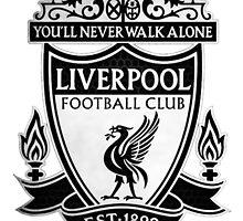 Liverpool FC Logo (Black) by redlion74