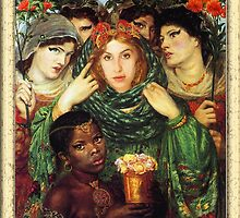 Amy Winehouse as The Beloved by Dante Gabriel Rossetti by PrivateVices
