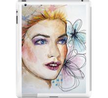 Woman watercolor painting iPad Case/Skin