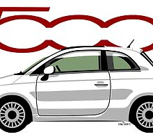 New Fiat 500 white by car2oonz