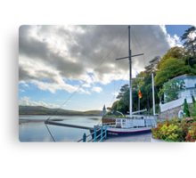 Boat At Portmeirion . Canvas Print