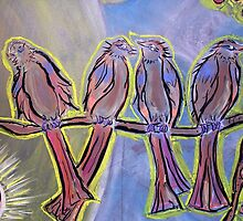 Four Disciples Singing • 2007 by Robyn Scafone