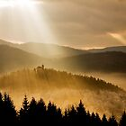 Afternoon rays over church by Ian Middleton