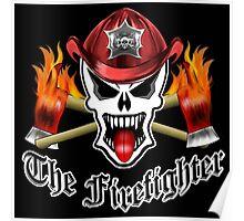 Fire Fighter Skull 2.1 Poster
