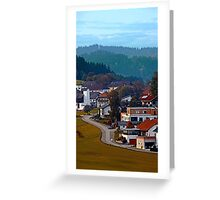 Autumn season village panorama | landscape photography Greeting Card