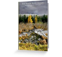 Baker River Valley Poster Greeting Card