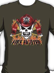Fire Fighter Skull 2 T-Shirt