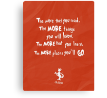 dr seuss the more that you read Canvas Print