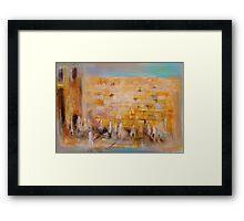 The Western Wall Framed Print