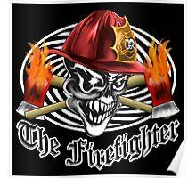 Firefighter Skull 5.4 Poster