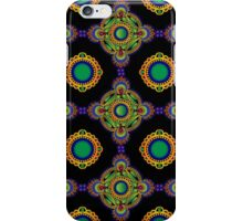 Blue and green pattern iPhone Case/Skin