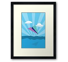 Paper Airplane 78 Framed Print