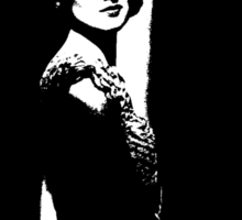 Myrna Loy Knows What's Coming Next Sticker